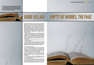 Item image: Empty of Words, the Page